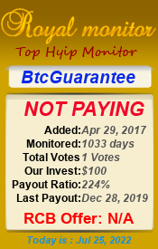 Monitored by royalmonitor.com